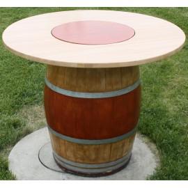 TABLE AVEC PLATEAU TOURNANT