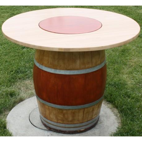 tonneaux table avec plateau tournant juls design. Black Bedroom Furniture Sets. Home Design Ideas