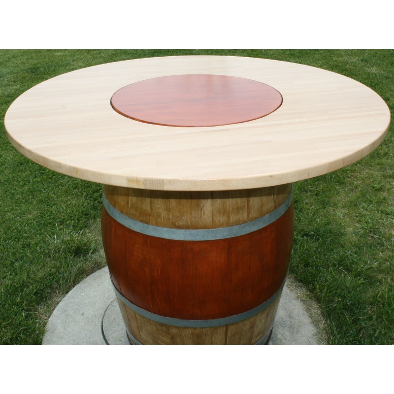 Tonneaux table avec plateau tournant juls design - Table avec plateau tournant ...